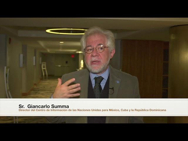 Giancarlo Summa, Director del CINU México, en #NYMUNLAC 2018